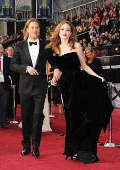 Brad Pitt and Angelina Jolie at the 2012 Oscar