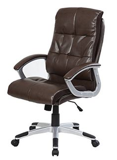 Merax Pu Leather Office Chair Executive Chair Computer Desk Task Office Chair Gaming chairBrown ** Learn more by visiting the image link.Note:It is affiliate link to Amazon.