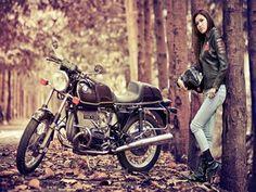 Beauty Girl Motorcycle Heels Sexy