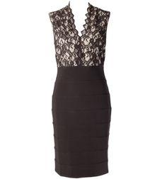 lace overlay fooler dress