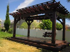 Arbor and Trellis structures are an excellent way to accent your backyard living space. In our experience they are often used in conjunction with a pergola, gazebo, or pavilion to accent a walk way, hidden corner, or provide shade for a swing, or bench.