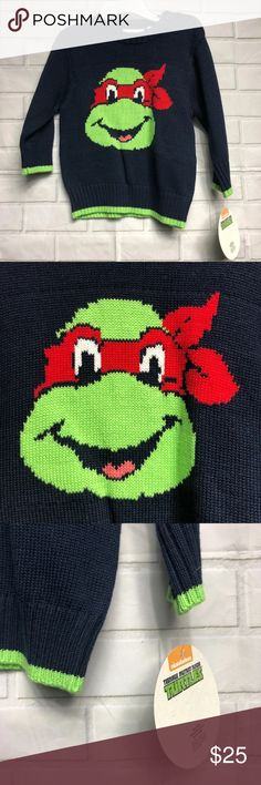 8651f2857 TMNT Michaelangelo Knit Sweater Brand new with tags! Knit baby infant  sweater featuring Teenage Mutant