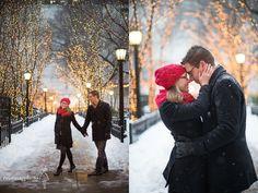 Winter Engagement Photo Idea!