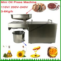 1 pieces stainless steel Multifunctional oil press machine for factory price oil press machine tool/350W oil expeller for sale #Affiliate