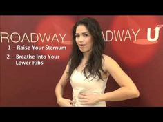 Arielle Jacobs demonstrates helpful breathing techniques for singing