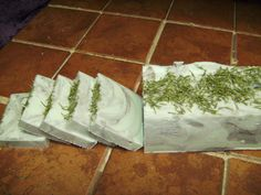 Rosemary Scrub soap log