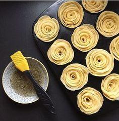 Kartoffel Rosen aus dem Ofen.