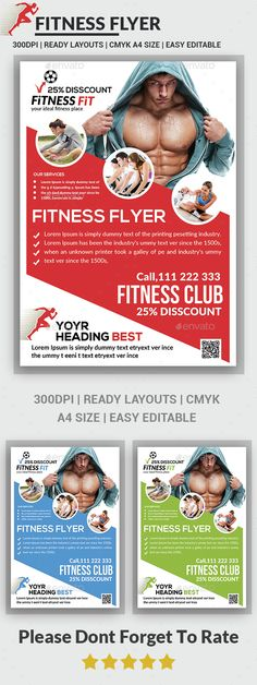 Fitness Flyer - Gym Flyer Templates Flyer template, Gym and Template - fitness flyer