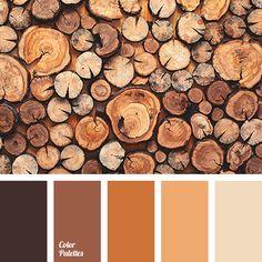 ◾ Wooden Palette ◾ Beige,  Brown Shades, Matching, Orange Shades, Red-Brown
