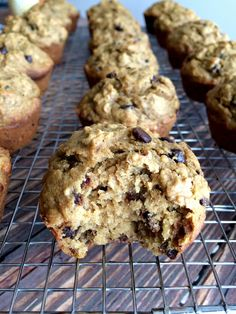 A simple wholesome chocolate chip muffin turned healthy. These Banana Chocolate Chip Butternut Squash Muffins are made with bananas, squash and whole grain oats. A healthy, gluten free treat everyone loves! Healthy Muffin Recipes, Healthy Desserts, Fun Desserts, Whole Food Recipes, Healthy Muffins, Breakfast Recipes, Gluten Free Deserts, Gluten Free Treats, Butternut Squash Muffins