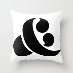 Gift season: Ampersand Throw Pillow by Andrei Robu (www.robu.co)