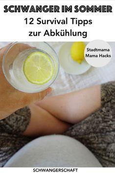 Schwanger im Sommer: meine 12 besten Tipps zur Abkühlung für eure Sommer-Schwangerschaft. So behaltet ihr kühle Beine und einen kühlen Kopf und genießt eure Schwangerschaft (Schwangerschafts-Hacks, Mama Hacks)