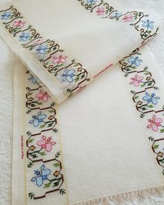 Turkish Art, Simple Cross Stitch, Floral Tie, Cross Stitch Patterns, Diy And Crafts, Embroidery, Crochet, Handmade, Accessories