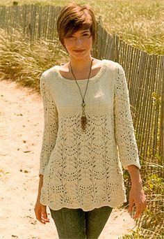 Nashua Wavy Lace Tunic
