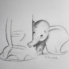 ideas for disney art drawings pencil beautiful Beautiful Pencil Drawings, Art Drawings Sketches Simple, Pencil Art Drawings, Easy Drawings, Animal Drawings, Drawing Ideas, Elephant Drawings, Pencil Sketches Easy, Disney Drawings Sketches
