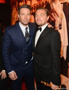Best Pictures From the Oscars 2016 | POPSUGAR Celebrity Photo 30...Ben Affleck and Leonardo DiCaprio
