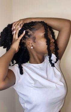 Braids Hairstyles Pictures, Faux Locs Hairstyles, Baddie Hairstyles, Fashion Hairstyles, Hairstyle Ideas, Hair Ideas, Black Girl Braids, Braids For Black Hair, Medium Hair Styles