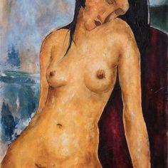 Modigliani fermale nude 90x60  .  .  #paint #paintondemand #oilcanvas #arte #modigliani #amedeomodigliani #modiglianiart #copymodigliani #artemoderna #homemade #homeideas#amedeomodiglianicopy