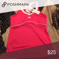 NWT Adidas athletic tank New with tags hot pink athletic tank top by Adidas. Adidas Tops Tank Tops