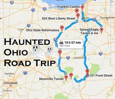 Ohio is the best state for road trips. From haunted locations to delicious restaurants, here are 10 unforgettable road trips to take in Ohio. Most Haunted Places, Spooky Places, Haunted America, The Buckeye State, Travel Tours, Travel Ideas, Travel Destinations, Travel List, Haunted Hotel