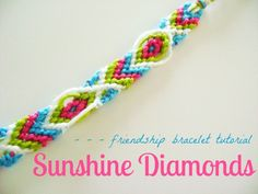 Summer To-Do #5: Friendship Bracelet Tutorial (Sunshine Diamonds) « lifeofcarbon