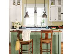 Cottage Kitchen - Home and Garden Design Idea's-similar colors to what renovated kitchen will be :)