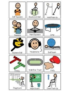 "Students can learn to self-regulate in the classroom using these sensory support choice boards. Encourages students to identify what sensory tools or activities help facilitate their self-regulation, or you can help encourage activities and provide a visual.This set includes two choice boards with visuals: ""I Can"" and ""I Need"". 15 different sensory regulation choices/supports symbols are included."