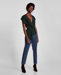 ZARA - WOMAN - DRAPED TOP