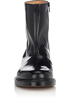 $1,860.00 VETEMENTS - Vetements Shannon Spazzolato Leather Boots - SOLD by BARNEY'S NEW YORK - affiliate - In a series of special collaborations, Parisian design collective Vetements has partnered with some of the world's most-loved brands to create refreshed and reimagined versions of celebrated products. Made in England of black spazzolato leather, Vetements' Shannon side-zip boots feature a plain toe.