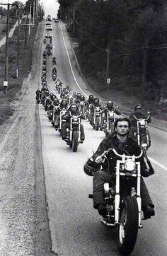 motorcycle hells angels b&w