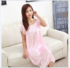 Summer short-sleeve plus size plus size women's sleepwear viscose lace plus size mm nightgown lounge