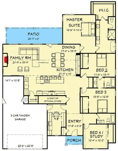 Charming Southern House Plan - 570002LEF | Architectural Designs - House Plans