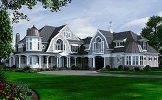 front exterior -- Plan 23415JD: Newport Masterpiece With Finished Walkout (Architectural Designs)