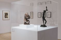 Exhibition view showing Red Stone Dancer & The Dancer by Henri Gaudier-Brzeska, these works are from our permanent collection & were the inspiration for this exhibition.