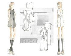 Fashion Portfolio Layout: design + flats = one page #layout #flats #sketches