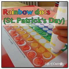 Rainbow dots {St. Patrick's Day}