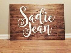 Custom Name Sign // Nursery Sign // Baby Name Sign // Over the Crib Sign Baby Sign Country Baby Girl Names, Southern Baby Names, Cute Baby Names, Kid Names, Baby Name List, Baby Name Signs, Painted Wood Signs, Rustic Wood Signs, Uncommon Baby Names