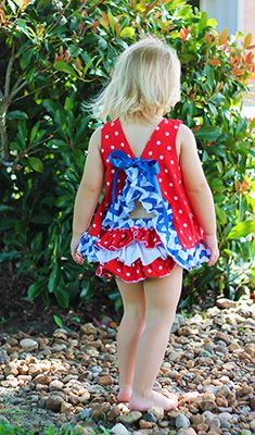 4th of July Swing Top and Boomer Set | Swing Tops with Matching Diaper Covers