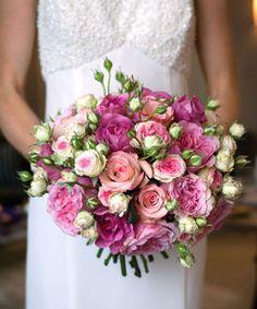 david austin roses wedding bouquet - too polkadotty though
