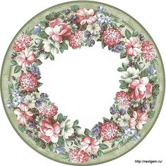 Round floral frames for decoupage. - 5 (700x700, 342Kb)