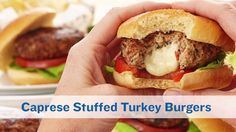 No better way to close out patio season than with a Caprese Stuffed Turkey Burger made with PERDUE® Ground Turkey!