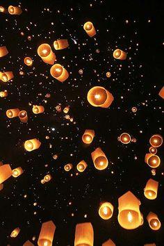 lacher de lanternes mariage