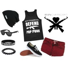 """Defend Pop Punk"" by kjeschon on Polyvore"