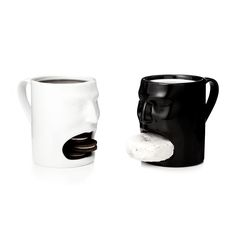 Face Mugs make the perfect gift for any coffee drinker--whether they take their morning brew black or light!   $35   UncommonGoods