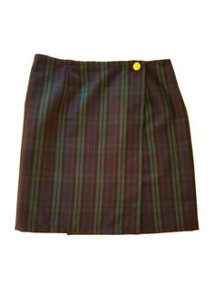 Black Watch Plaid Wrap Skirt