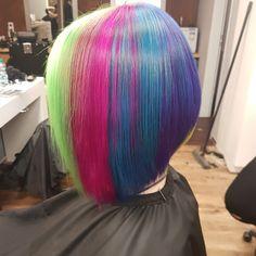 #bob #rainbow #hair #hairstyle #shorthair