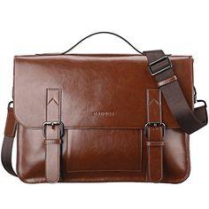 Banuce Vintage PU Leather Tote Briefcase for Men Laptop Shoulder Messenger Bag Briefcase For Men, Leather Briefcase, Pu Leather, Leather Bags, Leather Gifts, Christmas Gifts For Boyfriend, Boyfriend Gifts, Tote Backpack, Messenger Bags