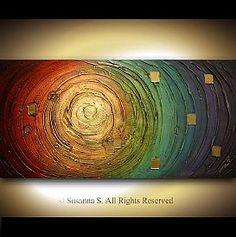 Espátula abstracto original pintura de Susana