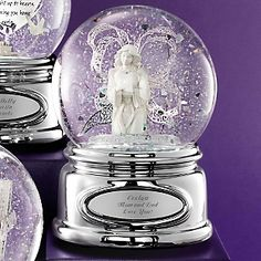 Personalized Angel Ribbon Water Globe , Add Your Message