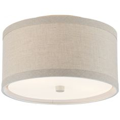 Walker Small Flush Mount in Burnished Silver Leaf with Cream Linen Shade Flush Mount Lighting, Flush Mount Ceiling, Wall Sconce Lighting, Ceiling Fixtures, Ceiling Lights, Light Fixtures, Family Room Lighting, Swing Arm Wall Sconce, Light Cream